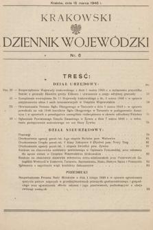 Krakowski Dziennik Wojewódzki. 1946, nr6