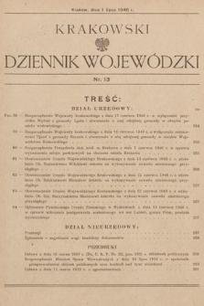 Krakowski Dziennik Wojewódzki. 1946, nr13
