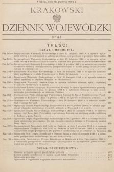 Krakowski Dziennik Wojewódzki. 1946, nr27