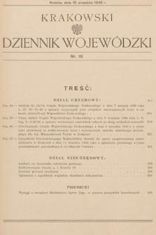 Krakowski Dziennik Wojewódzki. 1946, nr18