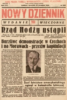Nowy Dziennik (wydanie wieczorne). 1938, nr262