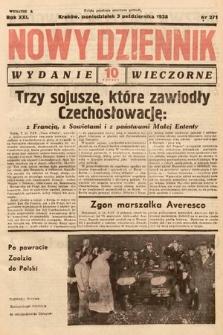 Nowy Dziennik (wydanie wieczorne). 1938, nr271