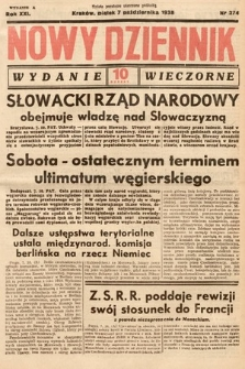 Nowy Dziennik (wydanie wieczorne). 1938, nr274