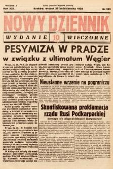 Nowy Dziennik (wydanie wieczorne). 1938, nr292