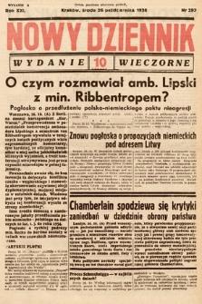 Nowy Dziennik (wydanie wieczorne). 1938, nr293