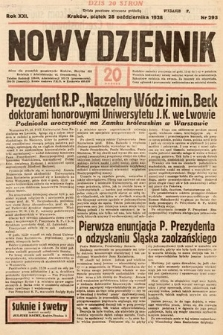 Nowy Dziennik. 1938, nr295