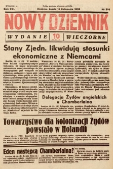 Nowy Dziennik (wydanie wieczorne). 1938, nr314