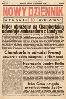 Nowy Dziennik (wydanie wieczorne). 1938, nr320