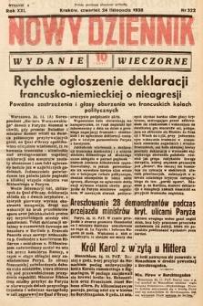 Nowy Dziennik (wydanie wieczorne). 1938, nr322