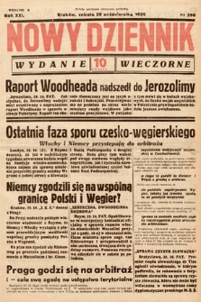 Nowy Dziennik (wydanie wieczorne). 1938, nr296