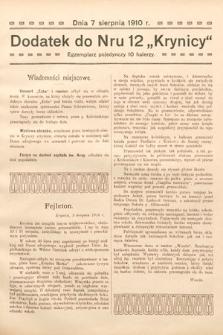 """Dodatek do Nru 12 """"Krynicy"""". 1910"""