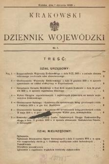 Krakowski Dziennik Wojewódzki. 1939, nr1
