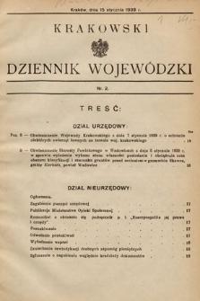 Krakowski Dziennik Wojewódzki. 1939, nr2
