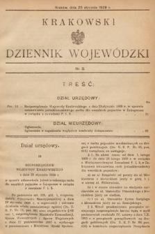 Krakowski Dziennik Wojewódzki. 1939, nr3