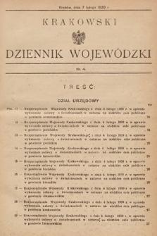 Krakowski Dziennik Wojewódzki. 1939, nr4
