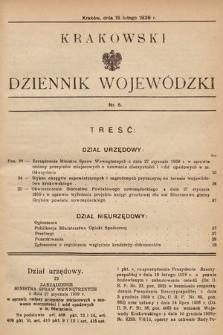 Krakowski Dziennik Wojewódzki. 1939, nr5