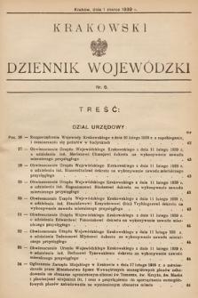 Krakowski Dziennik Wojewódzki. 1939, nr6