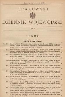 Krakowski Dziennik Wojewódzki. 1939, nr7