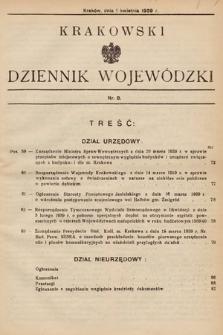 Krakowski Dziennik Wojewódzki. 1939, nr8