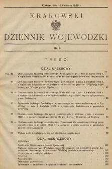 Krakowski Dziennik Wojewódzki. 1939, nr9