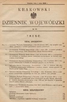 Krakowski Dziennik Wojewódzki. 1939, nr10