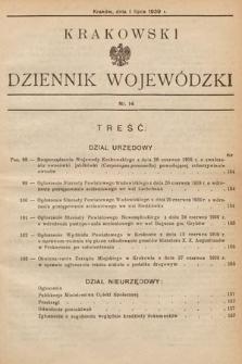 Krakowski Dziennik Wojewódzki. 1939, nr14