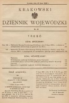 Krakowski Dziennik Wojewódzki. 1939, nr15
