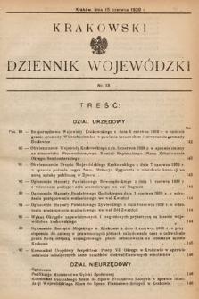 Krakowski Dziennik Wojewódzki. 1939, nr13
