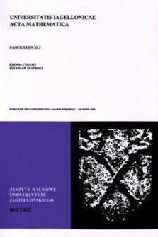 Zeszyty Naukowe Uniwersytetu Jagiellońskiego. Prace Matematyczne