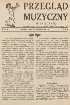 Przegląd Muzyczny. 1929, nr9