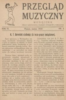 Przegląd Muzyczny. 1930, nr3