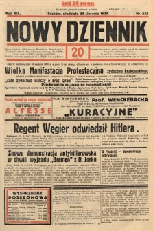 Nowy Dziennik. 1936, nr233