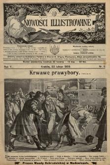 Nowości Illustrowane. 1908, nr8