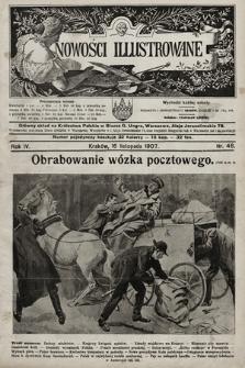 Nowości Illustrowane. 1907, nr46