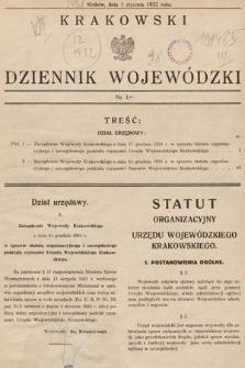 Krakowski Dziennik Wojewódzki. 1932, nr1