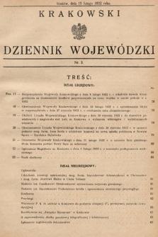 Krakowski Dziennik Wojewódzki. 1932, nr3