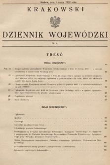 Krakowski Dziennik Wojewódzki. 1932, nr4