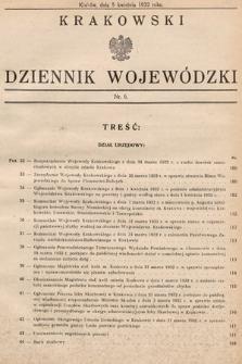 Krakowski Dziennik Wojewódzki. 1932, nr6