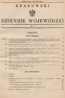 Krakowski Dziennik Wojewódzki. 1932, nr8