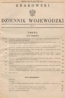 Krakowski Dziennik Wojewódzki. 1932, nr9