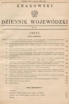 Krakowski Dziennik Wojewódzki. 1932, nr10