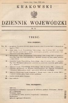 Krakowski Dziennik Wojewódzki. 1932, nr12