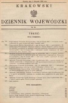 Krakowski Dziennik Wojewódzki. 1932, nr20