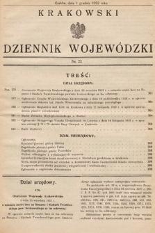 Krakowski Dziennik Wojewódzki. 1932, nr22