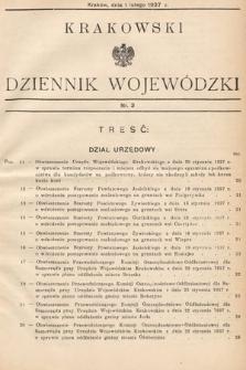 Krakowski Dziennik Wojewódzki. 1937, nr3