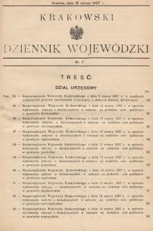 Krakowski Dziennik Wojewódzki. 1937, nr7