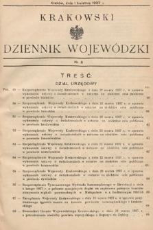 Krakowski Dziennik Wojewódzki. 1937, nr8