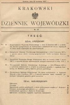 Krakowski Dziennik Wojewódzki. 1937, nr9