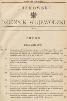 Krakowski Dziennik Wojewódzki. 1937, nr10