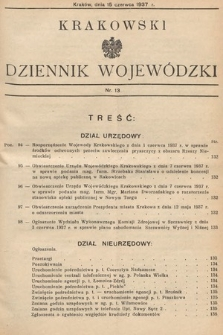 Krakowski Dziennik Wojewódzki. 1937, nr13